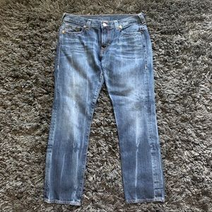 true religion medium wash boyfriend jeans 🌿